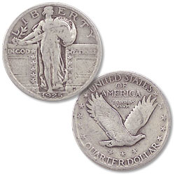 1925 Standing Liberty Silver Quarter