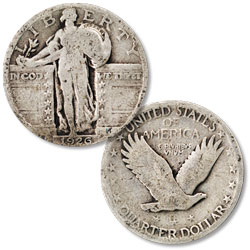 1926 Standing Liberty Silver Quarter