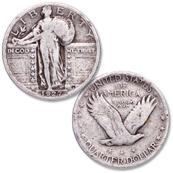 1927 Standing Liberty Silver Quarter