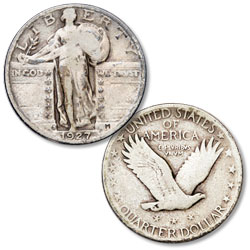 1927-S Standing Liberty Silver Quarter