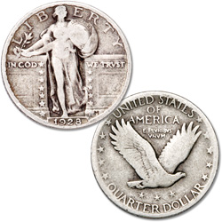 1928 Standing Liberty Silver Quarter