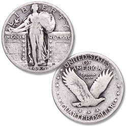 1929 Standing Liberty Silver Quarter
