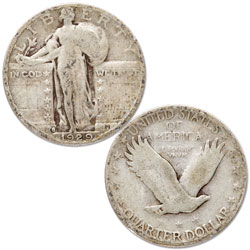 1929-S Standing Liberty Silver Quarter