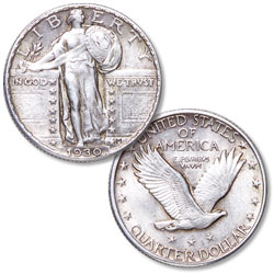 1930 Standing Liberty Silver Quarter