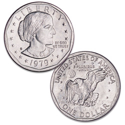 1979-S Susan B. Anthony Dollar, Filled S