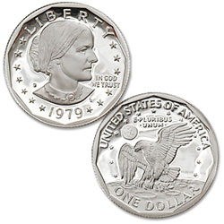 1979-S Susan B. Anthony Dollar, Filled S, Proof