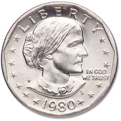 1979-S Susan B  Anthony Dollar, Filled S | Littleton Coin