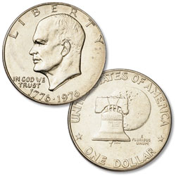1976 Eisenhower Dollar, Copper-Nickel Clad, Variety 1