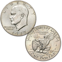 1977 Eisenhower Dollar, Copper-Nickel Clad