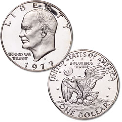 1977-S Eisenhower Dollar, Copper-Nickel Clad Proof