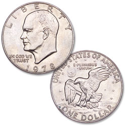 1978 Eisenhower Dollar, Copper-Nickel Clad