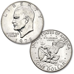 1978-D Eisenhower Dollar, Copper-Nickel Clad