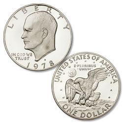 1978-S Eisenhower Dollar, Copper-Nickel Clad Proof