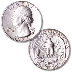 1932-D Washington Silver Quarter