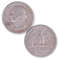 1936-S Washington Silver Quarter