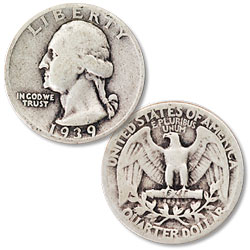 1939 Washington Silver Quarter