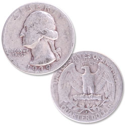 1939-D Washington Silver Quarter