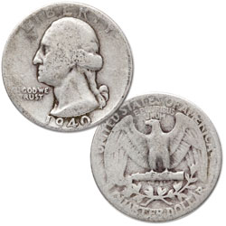 1940 Washington Silver Quarter