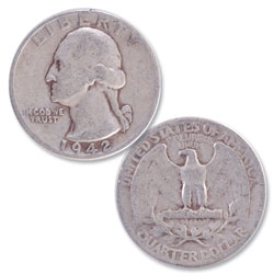1942 Washington Silver Quarter