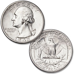 1943-S Washington Silver Quarter