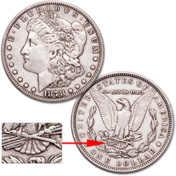 1878 7 Tail Feathers Morgan Silver Dollar (SAF)