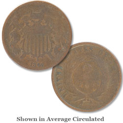 1866 Two-Cent Piece