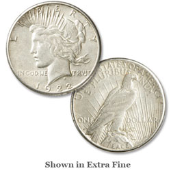 1922s peace silver dollar low relief