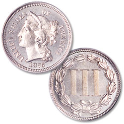 1875 Nickel Three-Cent Piece
