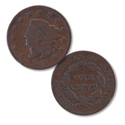 1829 Liberty Head Large Cent, Large Letters