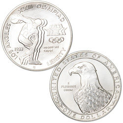 1983-S Los Angeles Olympiad Silver Dollar
