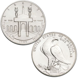 1984-D Los Angeles Olympiad Silver Dollar