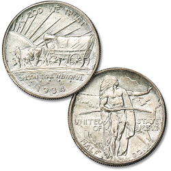 1934-D Oregon Trail Memorial Silver Half Dollar