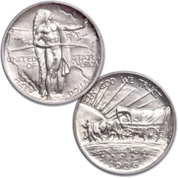 1936 Oregon Trail Memorial Silver Half Dollar