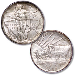 1937-D Oregon Trail Memorial Silver Half Dollar