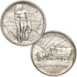 1938 Oregon Trail Memorial Silver Half Dollar