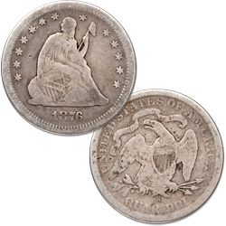 1876-S Liberty Seated Quarter