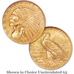 1908 Indian Head Gold Quarter Eagle