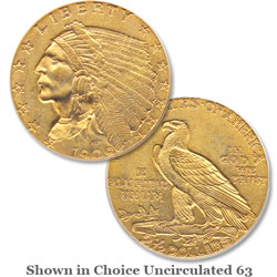 1909 Gold Indian Head Quarter Eagle