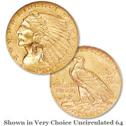 1910 Gold $2.50 Indian Head Quarter Eagle