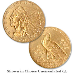 1912 Indian Head Gold Quarter Eagle