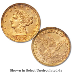 1846-D $2.50 Liberty Head Gold Quarter Eagle