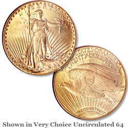 1927 Saint-Gaudens $20 Gold Double Eagle