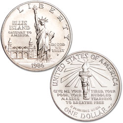1986-P Statue of Liberty Silver Dollar