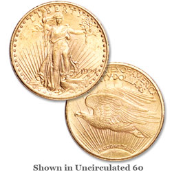 1924 Saint-Gaudens Gold $20 Double Eagle