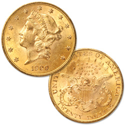 1900 Liberty Head $20 Gold Double Eagle