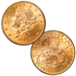 1901 Gold $20 Liberty Head Double Eagle