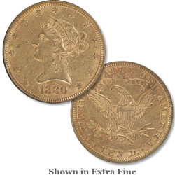1880 Liberty Head $10 Gold