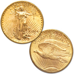 1914-D Saint-Gaudens $20 Gold Double Eagle