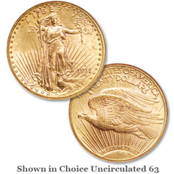 1911-D Saint-Gaudens $20 Gold Double Eagle