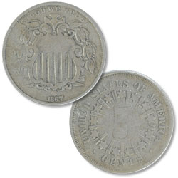 1867 Shield Nickel, Rays